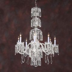 Eight-light crystal chandelier. Details on our website: DecorativeCrafts.com #decorativecrafts #decorative #lighting #lightfixture #chandelier #interiordesign #interiordecor #interior #lightfixtures #chandeliers #ceiling #homedesign #roomdesign #officedesign #elegant #chic #lavish #luxury #luxurious #crystal