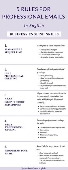 7 Rules for Professional Emails in English – Business English Skills 7 Rules for Professional Emails in English – Business English Skills,Sprachen 5 rules to write professional emails Related. English Writing Skills, English Vocabulary, Work Goals, Business Emails, Email Etiquette Business, Business Help, Business School, Job Interview Tips, Writing Words