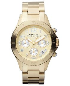 Marc by Marc Jacobs Watch, Women's Gold-Tone Stainless Steel Bracelet 40mm MBM3188