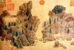 元·钱选. Pintura de Qian Xuan, Dinastía Song. China