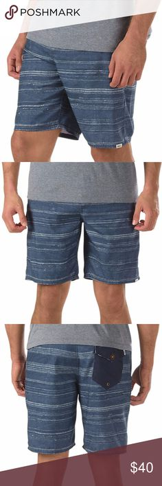 "Vans Mens Boro Deck Sider 19"" Hybrid Walk Shorts Some guys are kind of like cats when it comes to water. Unsure of what to think exactly and cautious in its presence. If you are a cat-man then the Vans Boro Decksider Hybrid Shorts will surely suit your needs. The hybrid construction makes them just as much walkers as water waders, so even if water isn't your thing, you can look the part when the pool is in your vicinity.  PRODUCT DETAILS MATERIAL 100% Recycled Polyester FIT Viper Block Cut –…"