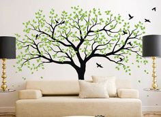 Large tree wall decal Tree Wall Decals Frame Family by iWallDecals, $79.99