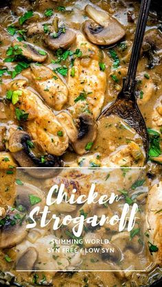 Everyone will fall in love with this Chicken Stroganoff – easy, quick and thoroughly yummy. No one will know that this is a Slimming World chicken recipe! world chicken recipes Chicken Stroganoff Slimming World Dinners, Slimming World Chicken Recipes, Slimming World Diet, Slimming Eats, Slimming Recipes, Best Chicken Recipes, Recipe Chicken, Slimming World Chicken Casserole, Easy Chicken Stroganoff Recipe