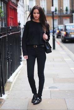 Tudo preto, look all black