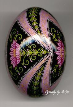 Raspberry Dream Pysanky Ukrainian Easter Egg by So Jeo