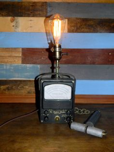 Industrial Lighting Vintage Moisture Meter Lamp door TheCleverRaven