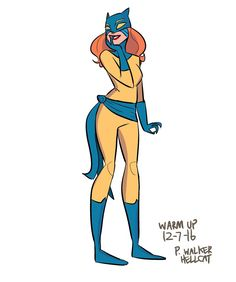 """John Allison on Twitter: """"My warm-up drawings usually don't get saved but this morning's Patsy Walker Hellcat was actually passable.…"""
