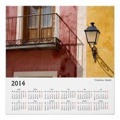 Cuenca, Spain 2014 poster calendar