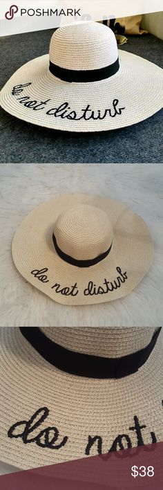 New* Do Not Disturb* Beach Hat Brand new, no tags! Perfect condition!  Seriously.. How adorable are these!?!  A must have for this summers beach festivities!  Offers welcome! Accessories Hats