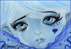 ACEO FAIRY - The Last Teardrop by Katerina-Art.deviantart.com on @deviantART