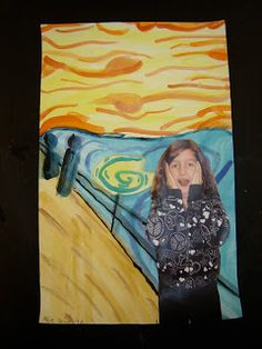 "Jamestown Elementary Art Blog: 4th graders in ""The Scream!"""