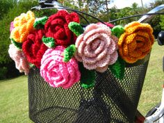 love the flowers on the bike basket