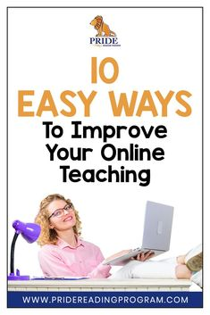 Here are 10 simple strategies to improve your online teaching for your special needs students--both in group and one-on-one instruction. #online #onlineteaching #learning #specialeducation #teaching via @pridereading