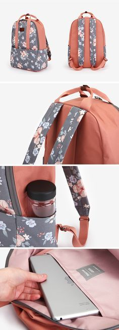 Functionality? Design? If it's too hard to choose one, the Dailylike Backpack is here for you! It is definitely functional as it features spacious compartment, padding for protection, light and quality material. Also, it has adorable and beautiful patterns and colors throughout!