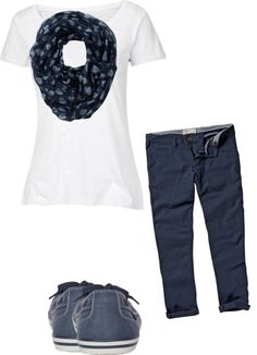 """""""blue and white"""" by angelgriffin ❤ liked on Polyvore"""