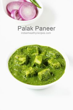 Palak paneer is a rich, creamy and delicious dish of paneer and spinach. Palak paneer is made by cooking paneer in mildly spiced spinach gravy. Palak Paneer Recipe Easy, Easy Paneer Recipes, Indian Beef Recipes, Goan Recipes, Veg Recipes, Curry Recipes, Paneer Spinach Recipe, Appetiser Recipes, Masala Recipe