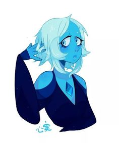 Blue diamond with short hair!