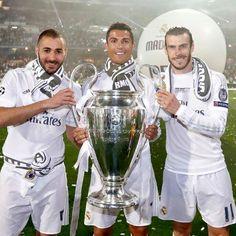 Cristiano,Bale & Benzema with #LaUnDecima!