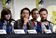 'The Walking Dead' TV series panel, Comic-Con International, San Diego, USA - 22 Jul 2016  Chandler Riggs, Steven Yeun, Lauren Cohan and Ross Marquard  22 Jul 2016