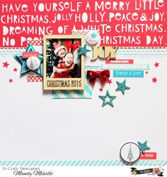 Joy | D-lish Scraps Design Team Layout | Pinkfresh Studio Christmas Wishes patterned paper | D-lish Scraps and Charms Creations embellishments