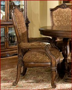 AICO Dining Arm Chair Windsor Court AI-70004 (Set of 2) by AICO. $978.00. AICO Dining Set Windsor Court. The Windsor Court® collection is an original furniture design from the Michael Amini® Original Furniture Designs. The refined casual comfort and cultural traditions of the English countryside are beautifully expressed in this superb collection. Each piece is carefully constructed of the finest Birch solids, and is delicately hand carved, resulting in pieces that c...