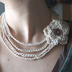 Look no further for that elegant statement DIY jewelry piece and get crafting this pure White Crochet Flower Necklace. Simple and beautiful, this crochet flower necklace is perfect for any time of the year, but looks especially great during the summer.