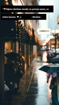 Yağmur darılmaz mesela; ne şemsiye açana, ne üstüne basana..🐞 Concert, Ox, Allah, Quotes, Herbs, Quotations, Recital, God, Beef