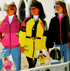 COLOR ME HAPPY – 80′S & 90′S NEON , FLUORESCENT , AND DAYGLO FROM BOOK COVERS TO SEARS ADS – 80′s Neon Fashions, 80′s neon hair and 80′s neon jelly bracelets!