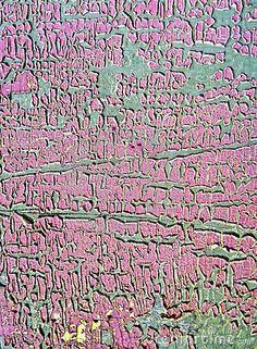Peeling Paint Patina On Wood