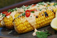Check out this delicious recipe for Mexican Corn Cobs from Weber—the world's number one authority in grilling. Weber Grill Recipes, Grilling Recipes, Vegetable Recipes, Cooking Recipes, Healthy Recipes, Healthy Food, Mexican Corn, Corn On Cob, Vegetable Dishes