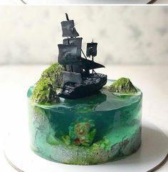 #торты Gorgeous Cakes, Pretty Cakes, Cute Cakes, Amazing Cakes, Crazy Cakes, Mini Cakes, Cupcake Cakes, Bolo Original, Island Cake