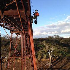 Bridge inspections in the sun #ropeaccess #bridge #inspections