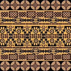 Ethnic pattern with african symbols ornaments royalty free stock