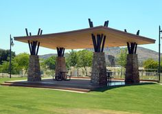 Parks and Recreation Idea Gallery Outdoor Pergola, Outdoor Spaces, Outdoor Living, A Frame House Plans, Archi Design, Roof Architecture, Tiny House Cabin, Roof Design, Parks And Recreation
