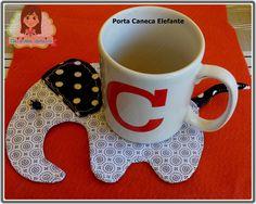 Porta Caneca Elefante Tableware, Mug Rugs, Fabric Dolls, Gifts, Luxury, Gatos, Ceilings, Dinnerware, Tablewares
