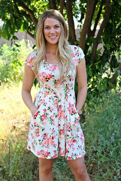 Floral Jersey Dress! With Pockets! | Jane