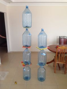 Building game for water bottles
