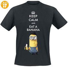 Minions Keep Calm And Eat A Banana T-Shirt schwarz XXL (*Partner-Link)