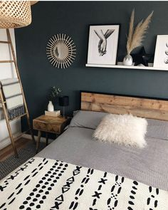 Morning all! I really find bedrooms the most difficult rooms to photograph 📸. What room or thing do you find the most difficult? Bed frame gifted from . Guest Bedrooms, Master Bedroom, My New Room, Home Decor Bedroom, Home Decor Inspiration, Boho Bed Frame, Future, Interior Design, Heart