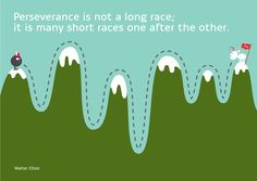 Perseverance is not a long race. It is many short races one after the other.  #Persevere #character