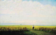 Steppe - Cornfield by Arkhip Kuindzhi, 1875 Dante Gabriel Rossetti, John Everett Millais, Russian Painting, Russian Art, Artist Art, Artist At Work, Sistine Chapel Ceiling, World Famous Paintings, Russian Landscape