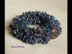 Návod - Chlupatý háčkovaný náramek / Bead crochet fur bracelet - YouTube