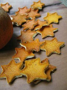 getrocknete Orangenschalen