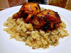 Living in the Ice Age: Harissa Chicken with Cauliflower Couscous