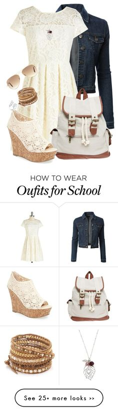Cabin 2 Back to School by the-book-knight on Polyvore featuring moda, LE3NO, Martick, Wet Seal, Kendall  Kylie, Chan Luu e Ray-Ban