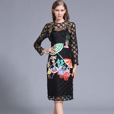 Find More Dresses Information about Two Pieces of set Europe style Embroidery Hollow out women Spring and Fall Dress High Quality Long Sleeve Plus size Dresses ,High Quality sleeve shift dress,China sleeve tattoos for women Suppliers, Cheap dress batwing sleeve from Sharewin Fashion(QEJIN) Co.,ltd on Aliexpress.com