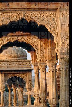 Bada Bagh cenotaphs, Jaisalmer. Rajasthan, India