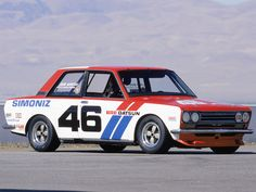Pete Brock's Datsun 510- John Morton driver.  race car, nissan, 1972