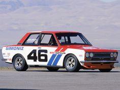 Pete Brock's Datsun 510- John Morton driver.  race car, nissan, 1972
