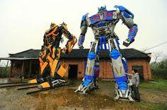 Optimus prime y Bumblebee